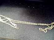 "16"" 10KT Gold Rope Chain NO STONE(S) 10K Yellow Gold 1.4dwt"